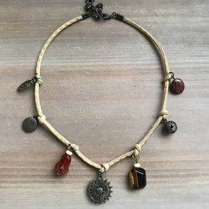 Ethic coin charm festival tribal boho necklace